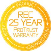25 jaar garantie REC Solar